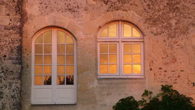 Evening sunshine of the Chateau