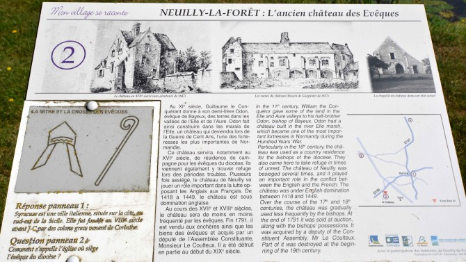 Info board chateau neuilly