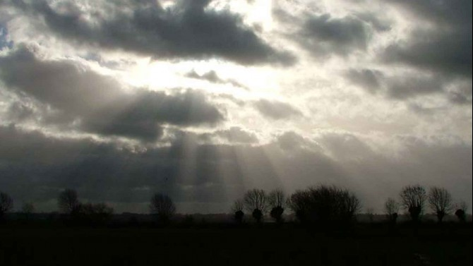 Winter sunshine over the marshes